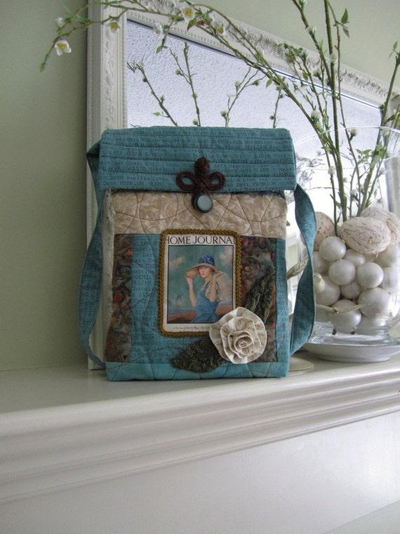 Handmade iPad Bag - Quilted iPad Purse/Case