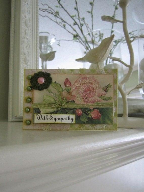 Sympathy Card - Vintage Rose Card