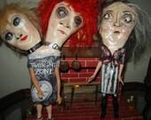 Folk Art Doll creepy granny doll