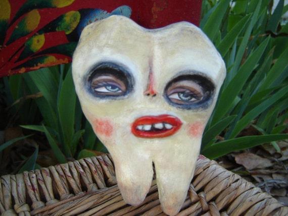 SALE Sweet tooth Pin Folk art