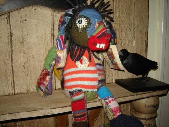 SALE Recycled WOOL  Freaky MONSTER Animal