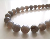 Calm Before the Storm Necklace - Gray Agate and Picasso Jasper