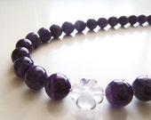 Dionysus Necklace - Purple Amethyst and Fluorite