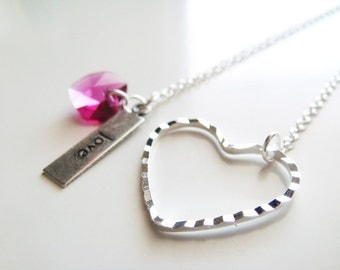 Love Note Necklace - Silver