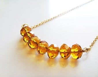 Crystalized Honey Drops Necklace - Austrian Crystals