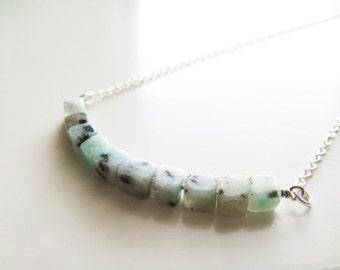 Cubism Necklace - Kiwi Jasper
