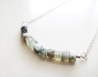 Cubism Necklace - Sesame Jasper
