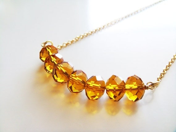 Crystalized Honey Drops Necklace - Swarovski Crystals