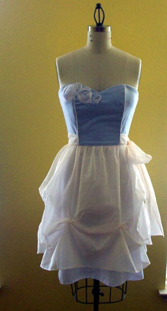 Strapless bridal dress - Something blue