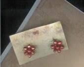 Early Screw Back Vintage Seed Bead Earrings