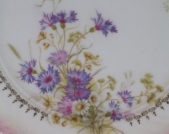 Vintage ct German liliac flowers Plate Cottage Chic Germany