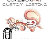 RESERVED for edgar6364 - JukeboxArt