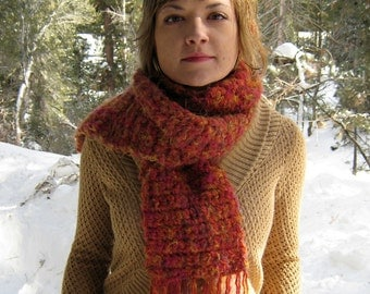 Super Sale===Awesome Autumn Super Soft Crocheted Knit Wool Blend Scarf