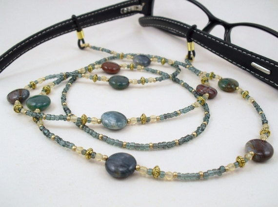 Fancy Jasper Eyeglass Lanyard
