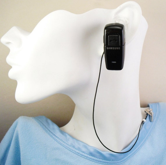 BLUETOOTH LEASH - UNISEX - For your Bluetooth Headset - Black or Clear