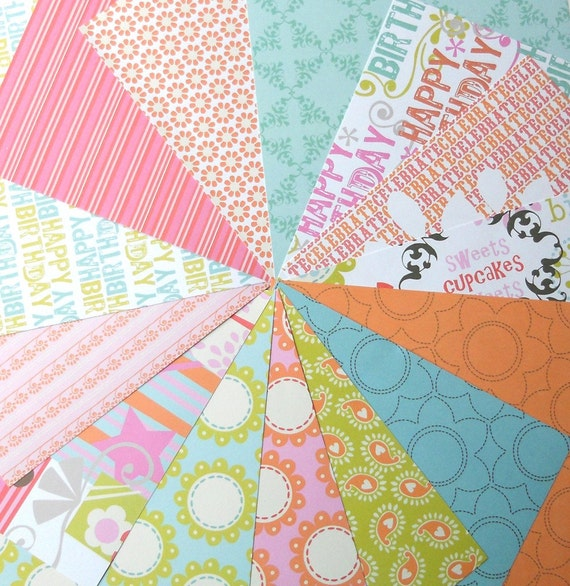 DESTASH - Me and My Big Ideas: Celebrate - Pack of 14 Different Scrapbook Papers, 6 inch X 6 inch