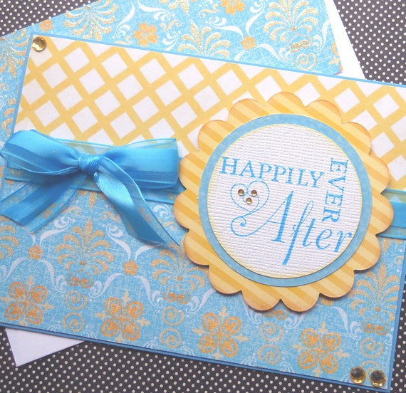 Wedding / Anniversary Card with Matching Embellished Envelope - Ever After