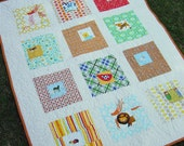 Square in Squares Baby Quilt