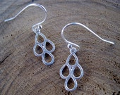 Olivia Collection: Sterling Silver hammered teardrop earrings