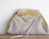 vintage geometric real snakeskin clutch
