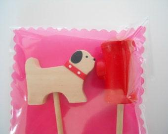 Cupcake Topper- Dog on a Walk