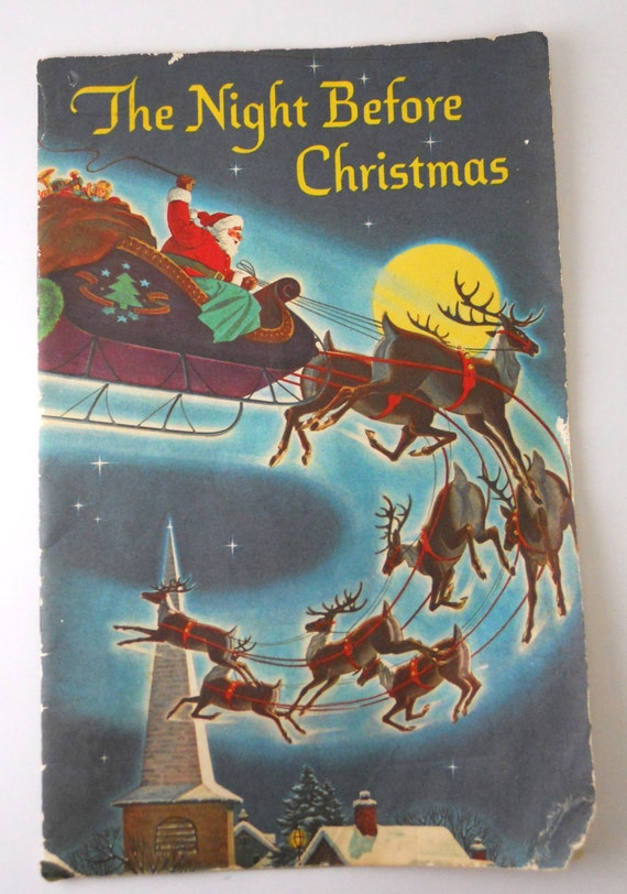 The Night Before Christmas- Advertising Booklet 1950s