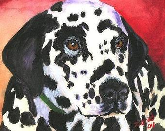 DALMATION DOG ART PRINT MJ ZORAD ART