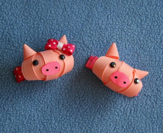 Items Similar To Pig, Piggy, Animal, Ribbon Sculpture