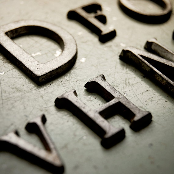 destash small metal letters for altered art or by atticantics With small metal letters