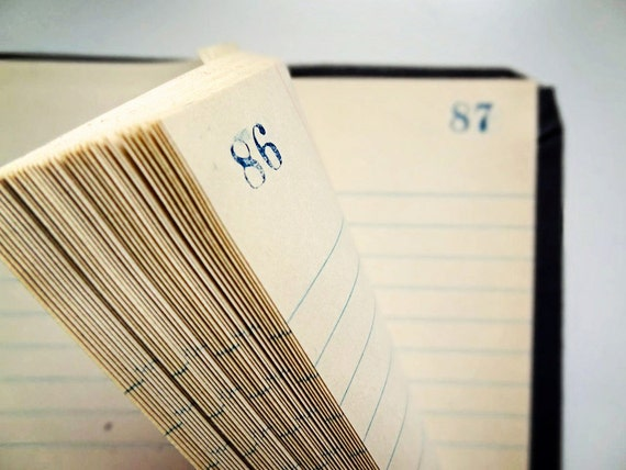 vintage ledger, ruled pages, completely unused...perfect for altered book art projects