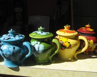 set of 4 covered mugs