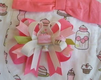 Toddler bows Made 2 Match M2M Janie and Jack Soda Foutain with centers double-lynbows