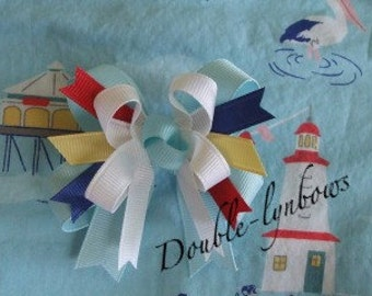 Toddler bow M2M Janie and Jack Yacht Party from Doublelynbows