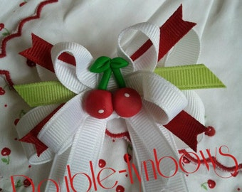 Cherry Darling Toddler hairbow M2M Janie and Jack bow from Double-lynbows