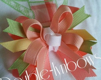 Poppy Garden Toddler bow M2M Janie and Jack hairbow from Double-lynbows