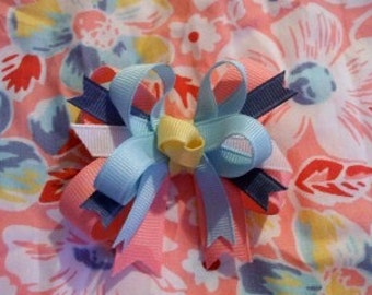 Double-lynbows Made 2 Match M2M Janie and Jack Summer Sweet Tea toddler bow