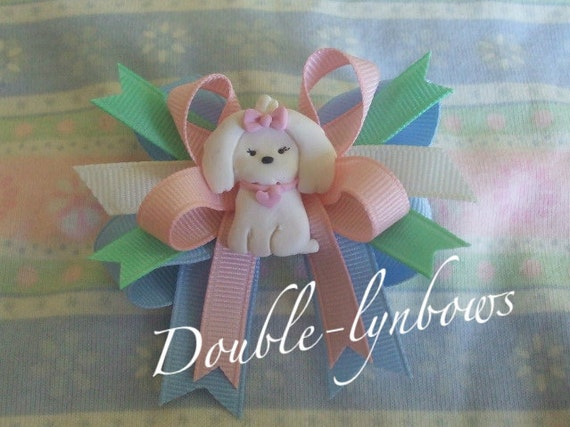 M2MG Puppy Princess M2M Gymboree Toddler hairbow Bows from Double-lynbows