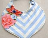 Genie Bib Botanika in Chevron and Flowers
