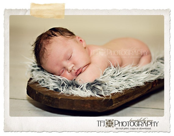 Pre-Order - Grey , Ivory, Caramel or Pink Fur Rug - 20x22 - Photographer Photography Prop - Perfect for Baskets Trenchbowls