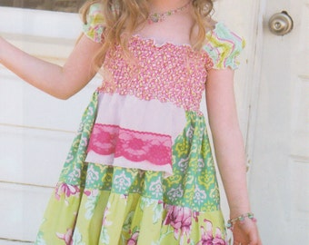 SALE!! FREE SHIPPING lydia dress pattern by pink fig design