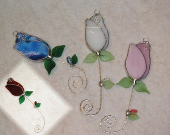 Rose suncatcher with Swarovski Crystal