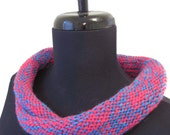 Sale - Pink & Blue Cowl - Wool
