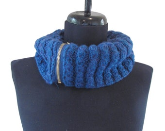 Heather Blue Cowl - Circle Scarf