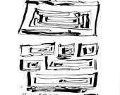 Archival print of original india ink drawing - Rectangles 5