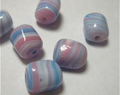 Vintage Japanese Glass in Swirled blue and Pink 12x10 (6)