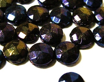Glass Vintage Blue Iris Nail Heads (48)