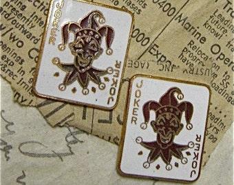 Vintage Cloisonne Enamel Findings of Jokers (2)