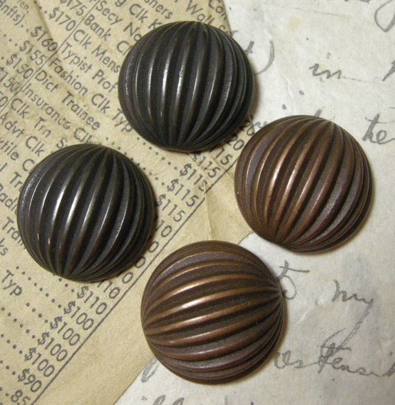 24mm Cabochon, Large Fluted Cabochons,  4 pieces