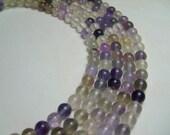 Rainbow Fluorite Beads, 6 mm, 16 inch Strand