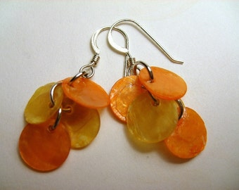 Calypso Earrings in Lemon and Tangerine